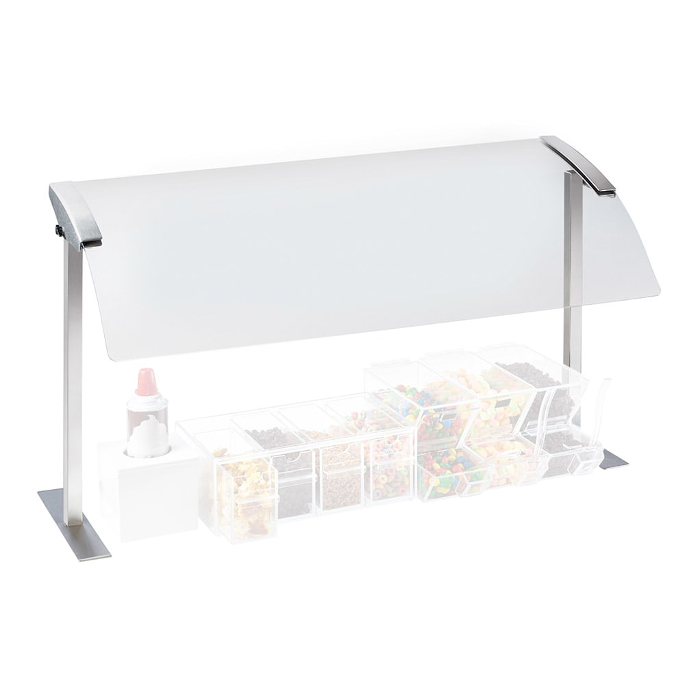 """Cal-Mil 2026-4-55 Sneeze Guard - Single, 49-1/4x16x20-3/4"""", Stainless Steel"""
