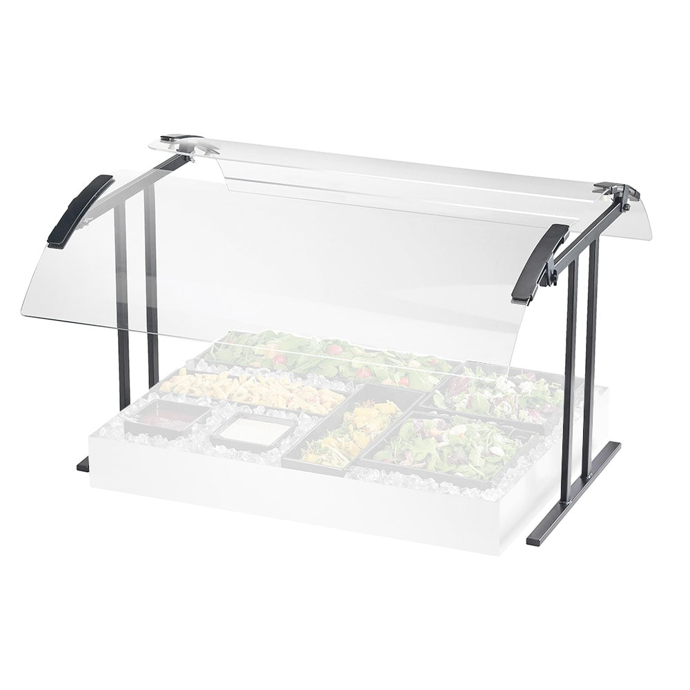 """Cal-Mil 2027-4-74 Buffet Sneeze Guard - Double Faced, 49 1/4x27 1/4x21 1/2"""", Silver"""