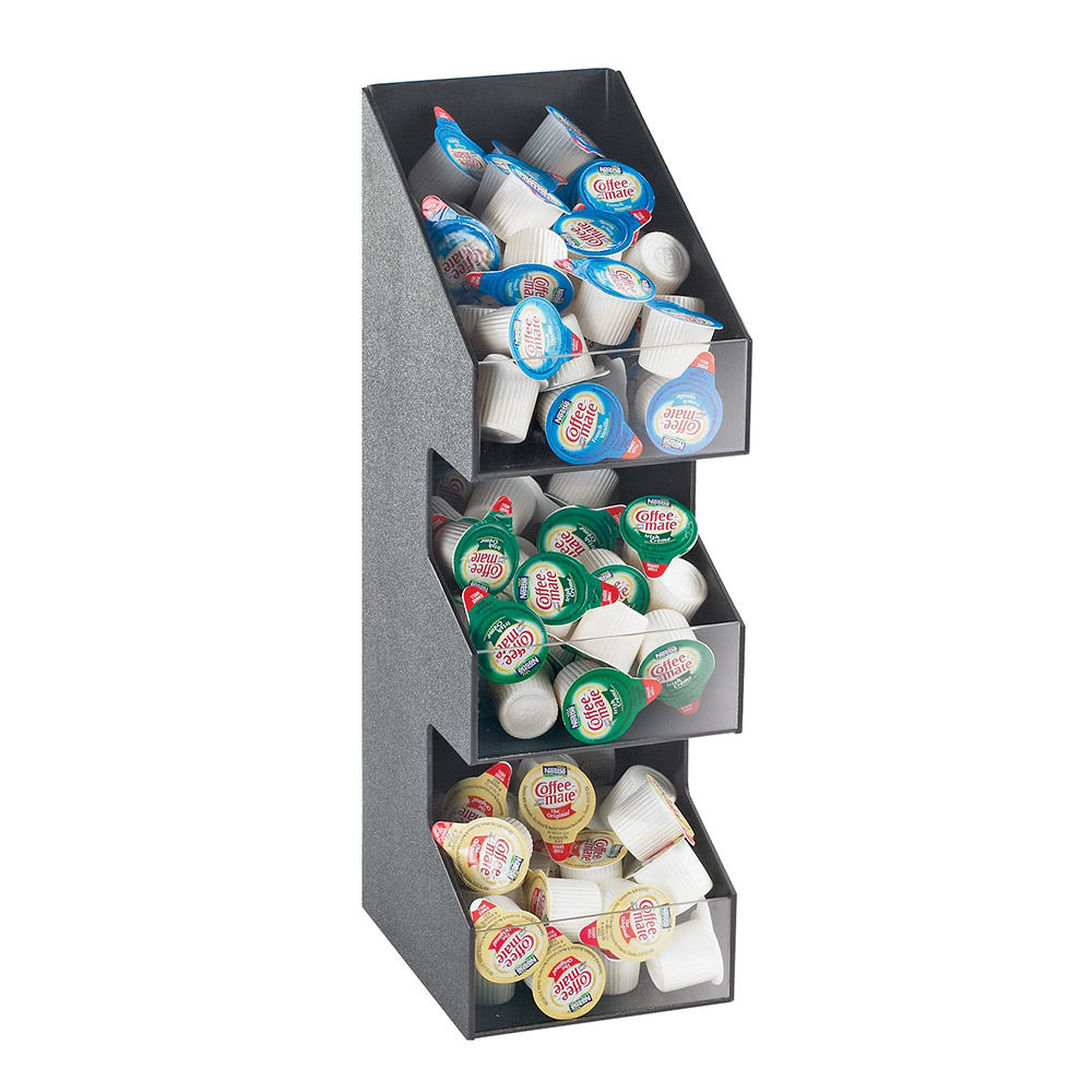 Cal-Mil 2053 3 Tier Classic Condiment Packet Display - Black