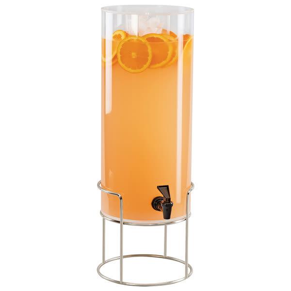 Cal-Mil 22005-3-49 3 gal Round Beverage Dispenser w/ Ice Chamber - Metal Base, Chrome