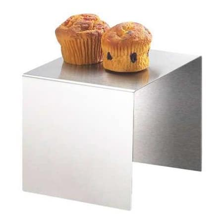 "Cal-Mil 239-6 7"" Square Buffet Riser - 6""H, Stainless"