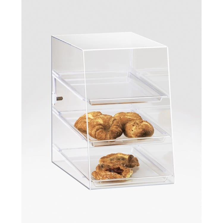 Cal-Mil 241-S 3 Tier Pastry Display Case w/ Hinged Door - Acrylic, Clear