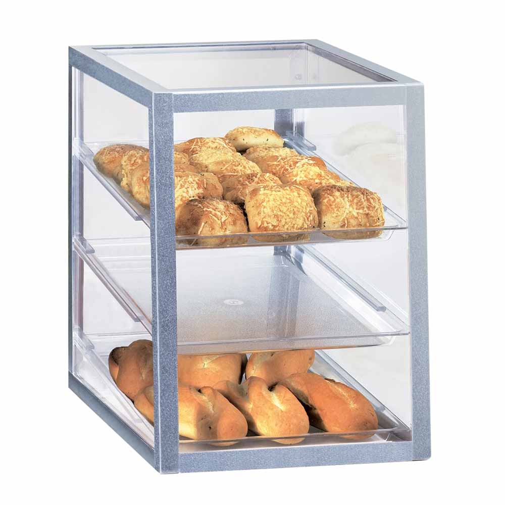 Cal-Mil 253 3 Tier Full-Service Pastry Display Case - Aluminum Frame, Acrylic