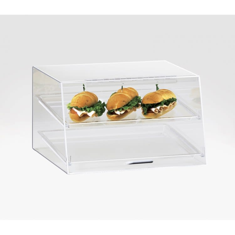 Cal-Mil 255-S 3 Tier Pastry Display Case w/ Hinged Door - Aluminum Frame, Acrylic
