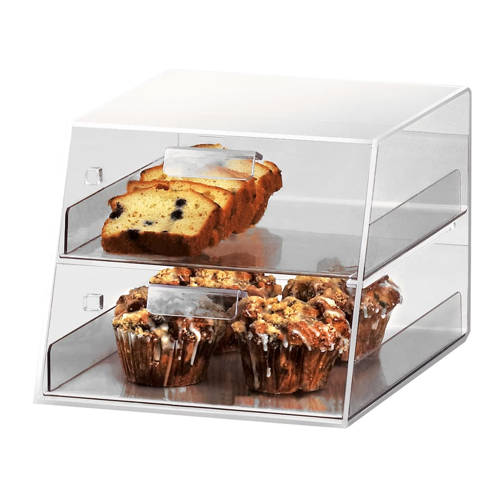 Cal-Mil 258 Countertop Display Case w/ 2 Slant Front Drawers, Clear