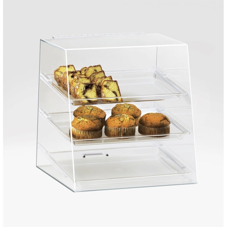 Cal-Mil 261 3 Tier Full-Service Pastry Display Case - Acrylic, Clear