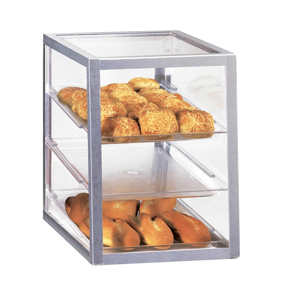 """Cal-Mil 268 Countertop Display Case w/ (3) 13 x 18"""" Trays, Attendant Serve"""
