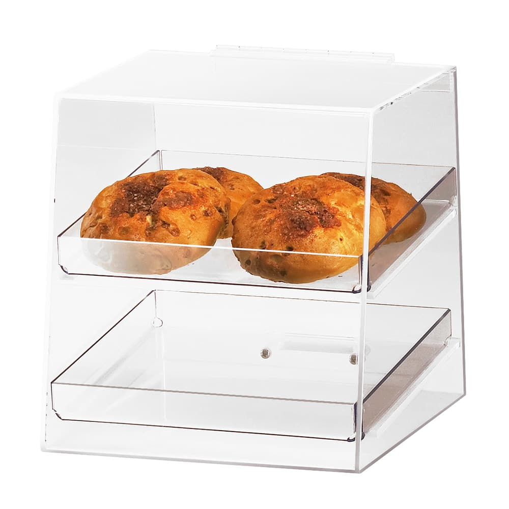 Cal-Mil 280 Countertop Display Case w/ Rear Door & 2 Trays, Clear