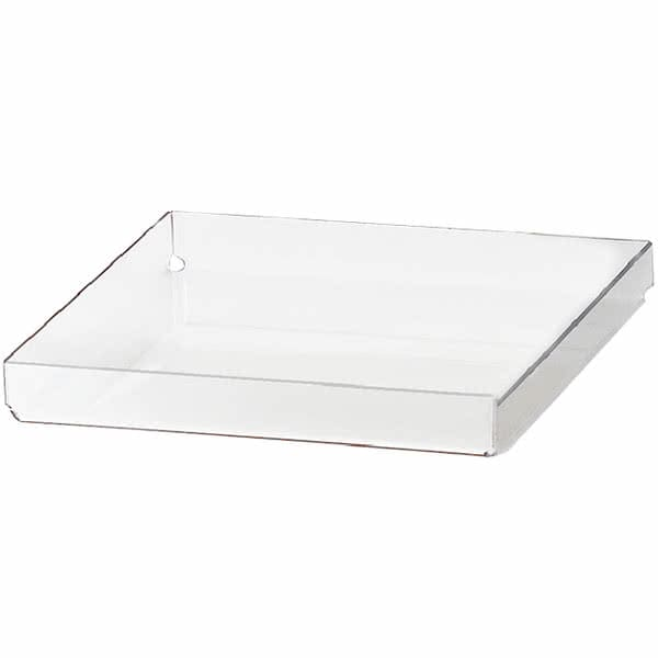 "Cal-Mil 280-T 10"" Square Tray for 280 Pastry Display Case - Acrylic, Clear"