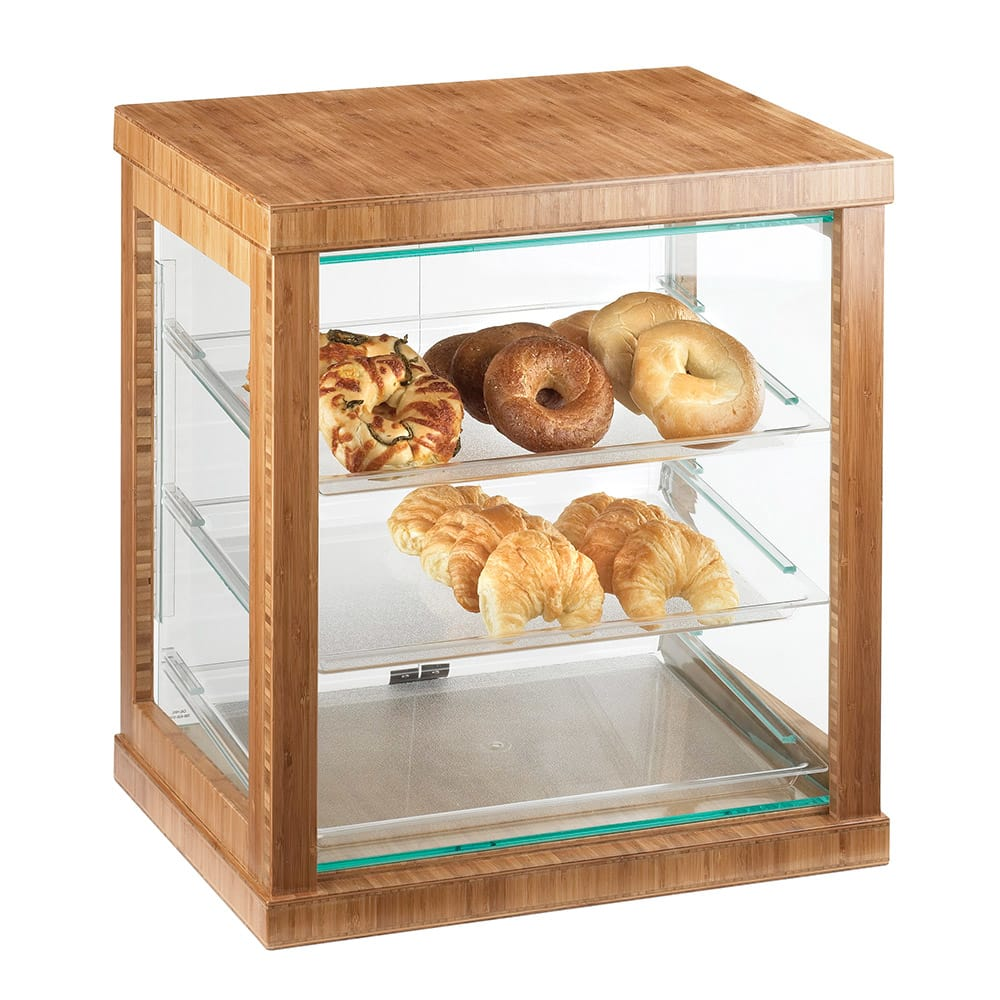 "Cal-Mil 284-60 Frame Display Case - 21x16 1/4x22 1/2"", Bamboo"