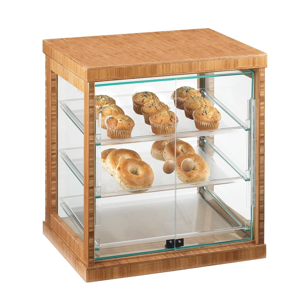 "Cal-Mil 284-S-60 Frame Display Case - 21 x16 1/4x22 1/2"", Bamboo"