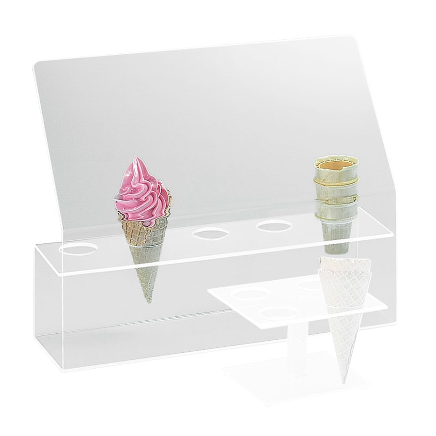 """Cal-Mil 297 5-Hole Cone Holder w/ Guard, 2"""" Diameter Hole Size, Clear"""