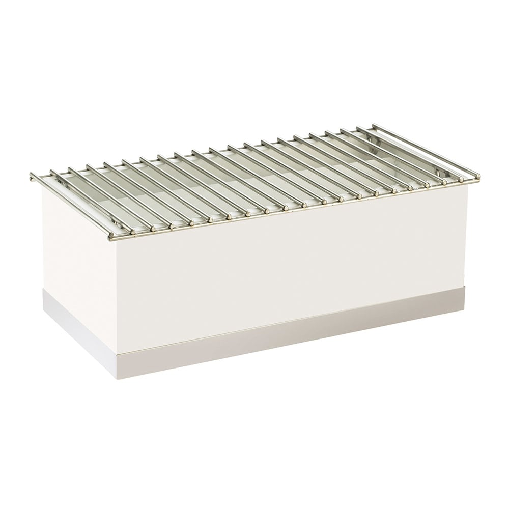 "Cal-Mil 3012-55 Luxe Chafer Alternative - 22x12x8 1/2"", White, Stainless Steel"