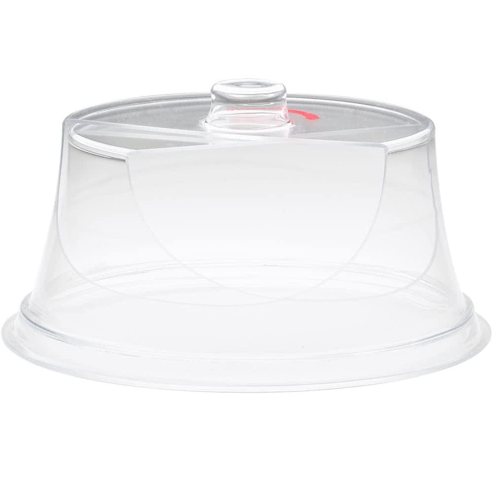 "Cal-Mil 302-10 10"" Round Colonial Turn N Serve® Cover - 4.5""H, Acrylic, Clear"