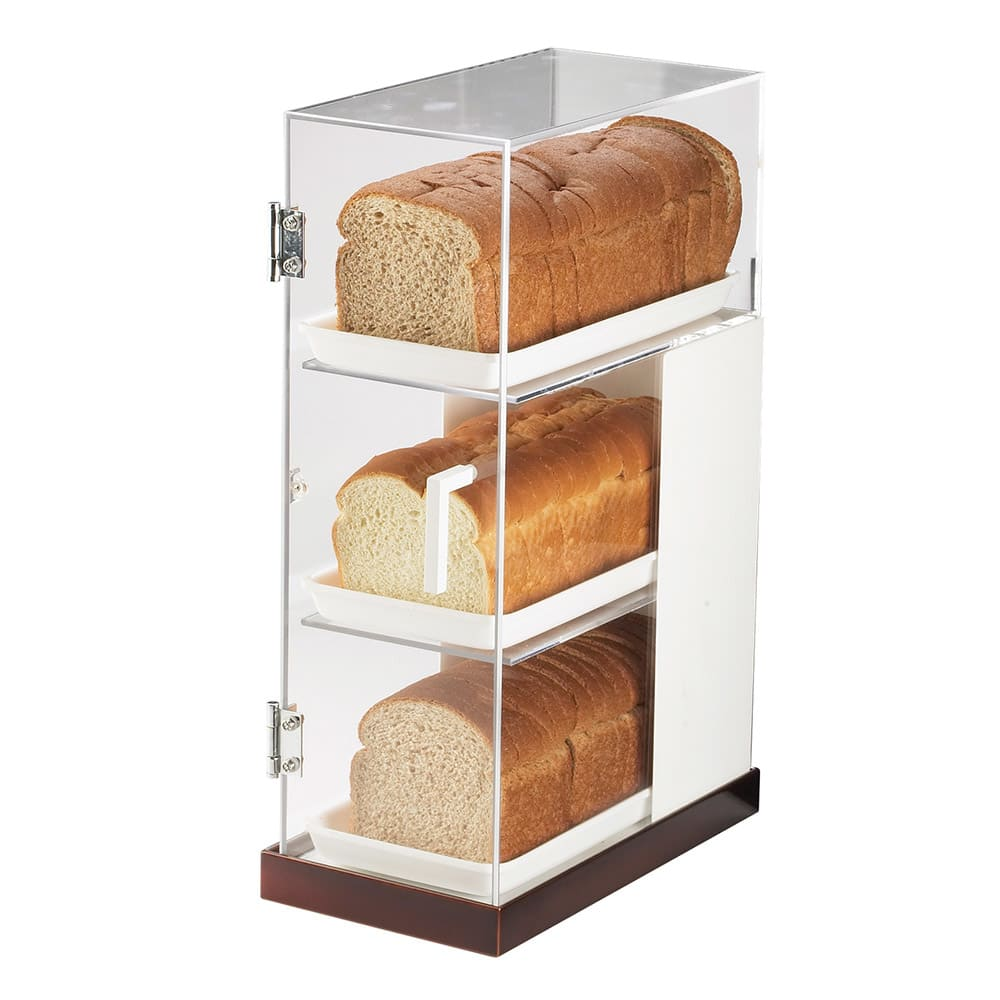 Cal-Mil 3021-55 3 Tier Luxe Bread Display Case - Clear, Stainless Steel