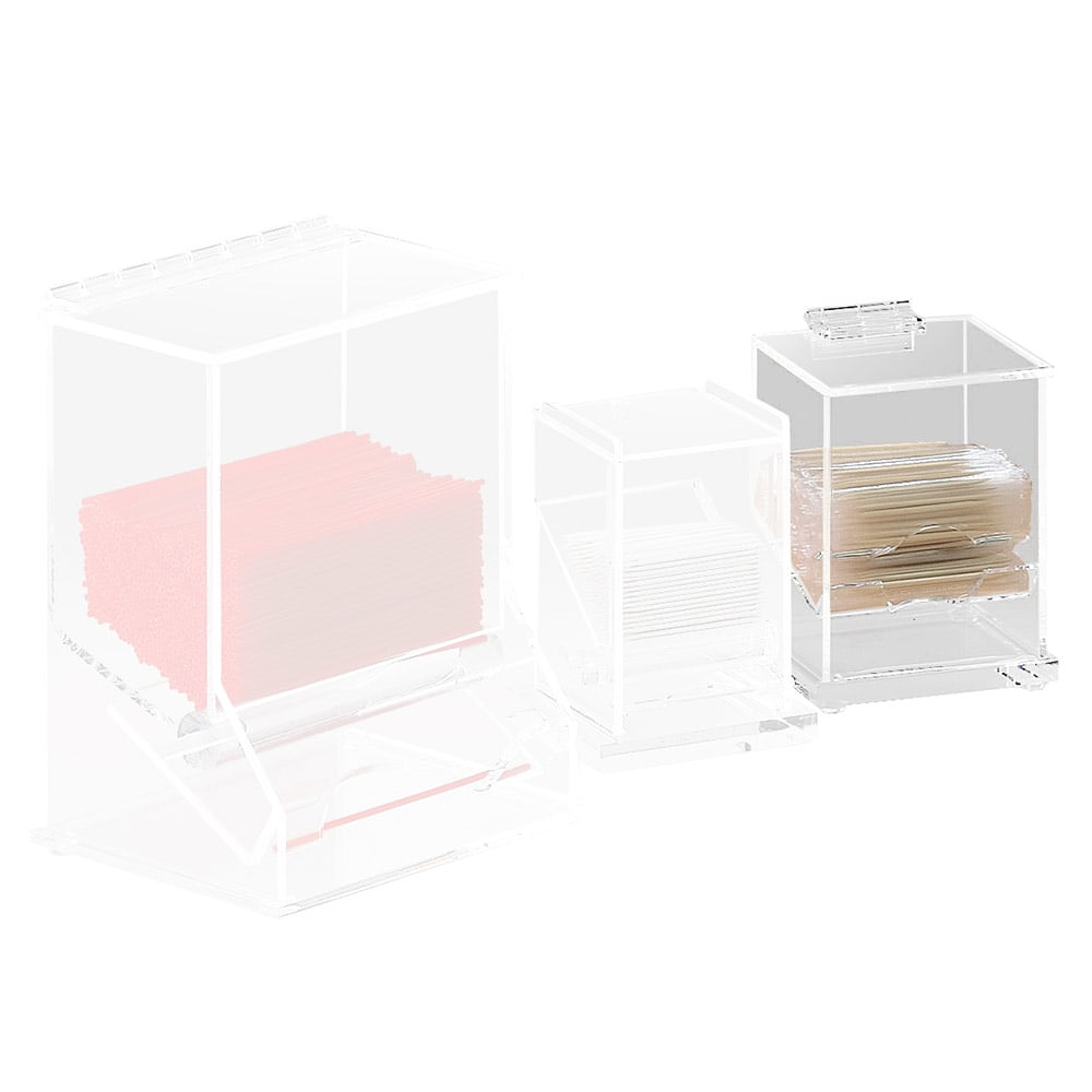 "Cal-Mil 304 Clear Acrylic Wrapped Toothpick Dispenser, 4.5 x 3.5 x 5.25"" H"