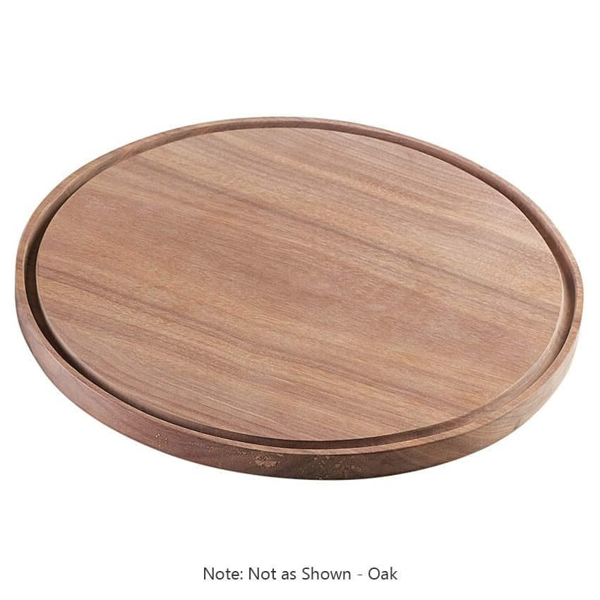 "Cal-Mil 3052-21 12"" Round Serving Board - Wood, Oak"