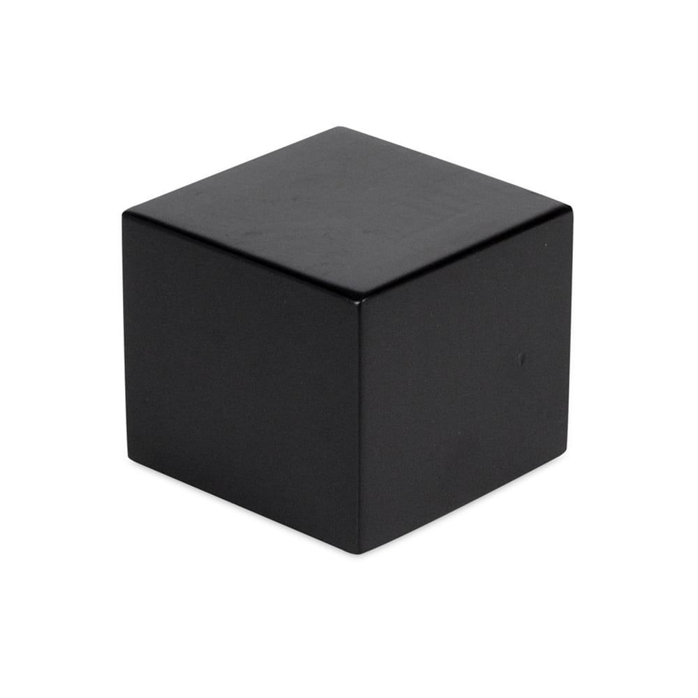 """Cal-Mil 3056-333 3.5"""" Square Buffet Riser Block - 3""""H, Wood, Charcoal"""