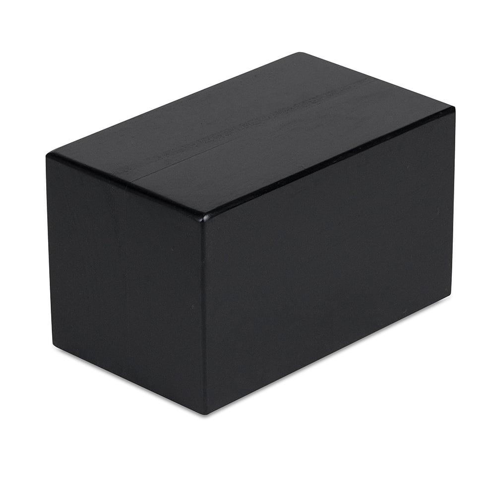 """Cal-Mil 3056-336 3.5"""" Square Buffet Riser Block - 6""""H, Wood, Charcoal"""