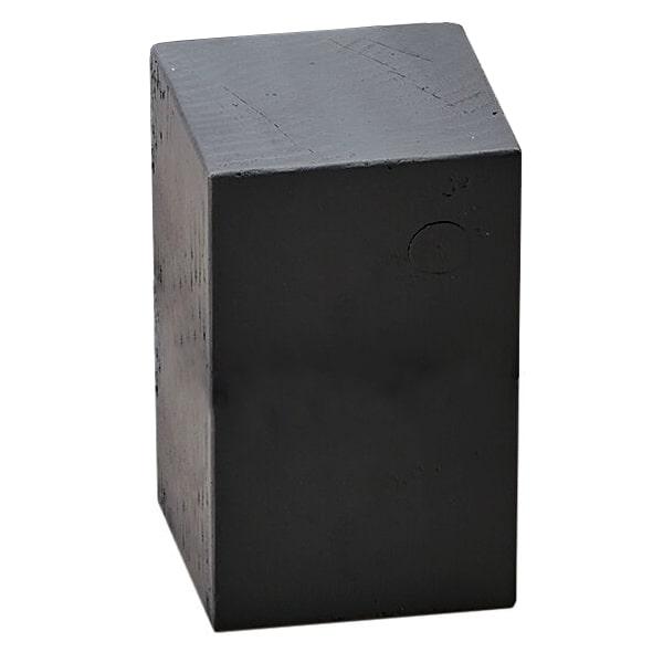 """Cal-Mil 3056-533 5.5"""" Square Buffet Riser Block - 3""""H, Wood, Charcoal"""