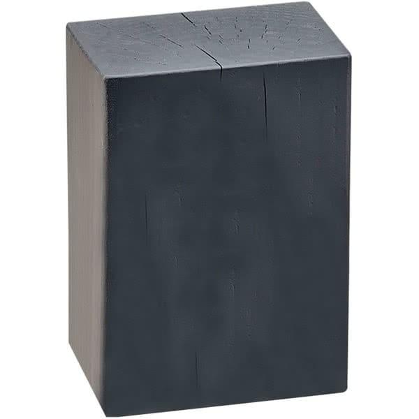 """Cal-Mil 3056-538 5.5"""" Square Buffet Riser Block - 8""""H, Wood, Charcoal"""