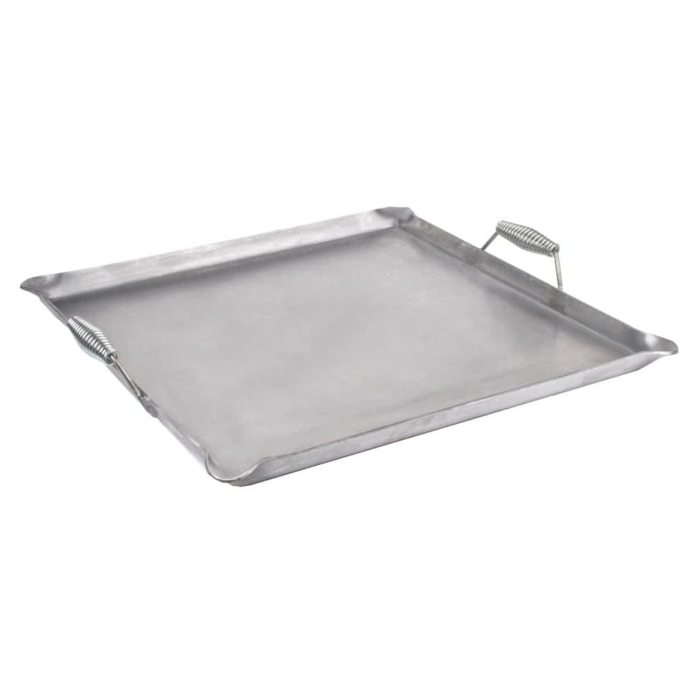 """Cal-Mil 3068 Griddle Top w/ Heat Guard Handles - 23"""" x 23"""", Iron"""