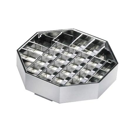 "Cal-Mil 308-4-49 4"" Octagon Standard Drip Tray, Chrome"