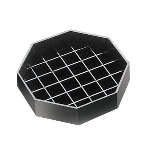 "Cal-Mil 308-6-13 6"" Octagon Standard Drip Tray, Black"