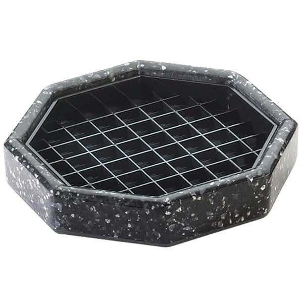 "Cal-Mil 310-6-31 6"" Octagon Stone Drip Tray - Plastic, Black Ice"