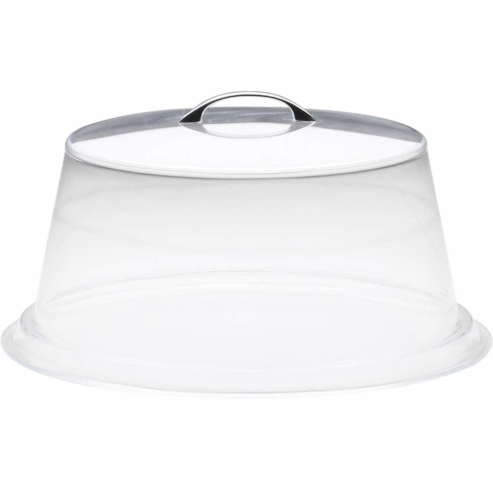 """Cal-Mil 312-12 12"""" Round Colonial Cover - 6""""H, Acrylic, Clear"""