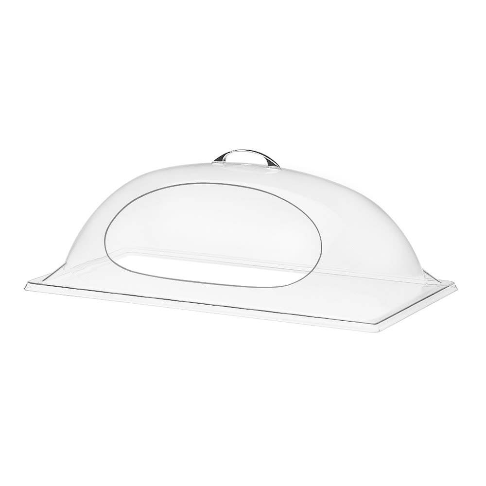 "Cal-Mil 324-18 Dome Display Cover w/ 1 Side Cut Out, 18 x 26 x 8"" High"