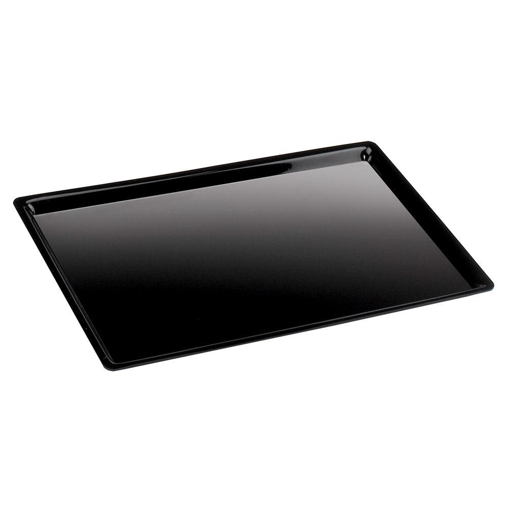 "Cal-Mil 325-10-13 Shallow Display Tray, 10 x 12 x 1"" Deep, Black Acrylic"