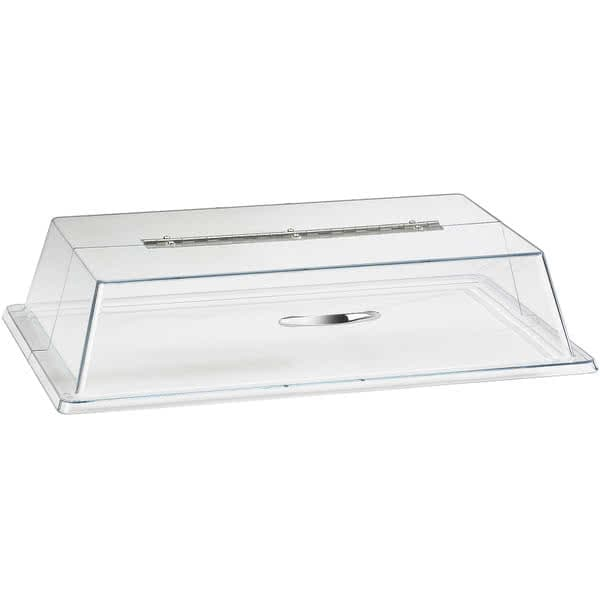 "Cal-Mil 329-18 Hinged Cover for Display Trays - 26""W x 18""W x 4""H, Plastic, Clear"