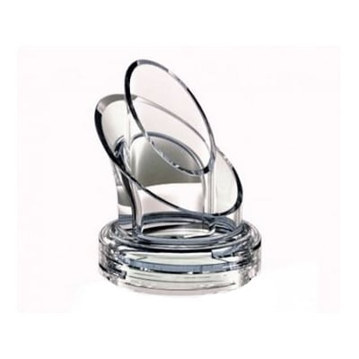 Cal-Mil 3300-28NODRIP Dripless Pour Lid for 3300 28 Dressing Bottle - Plastic, Clear