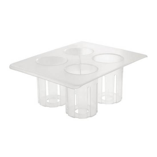 Cal-Mil 3300-RACK 4 Compartment Salad Dressing Caddy - Polycarbonate, Clear