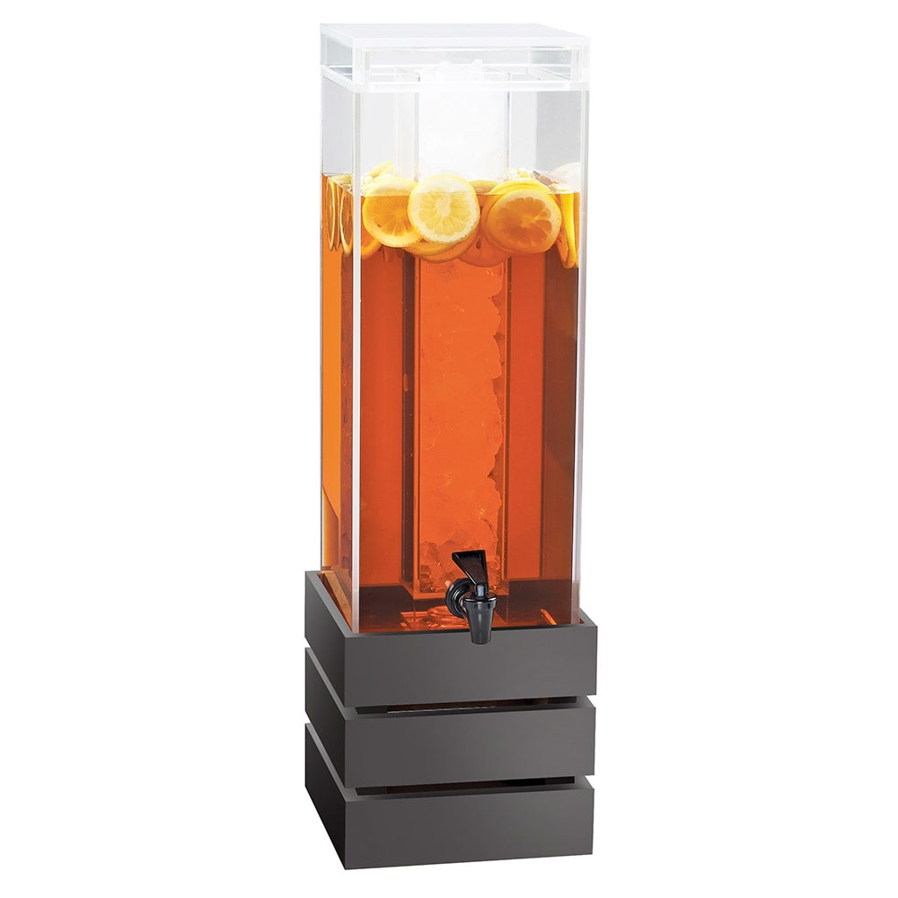 Cal-Mil 3301-3-96 3 gal Beverage Dispenser - Lid, Spigot, Acrylic, Midnight Bamboo