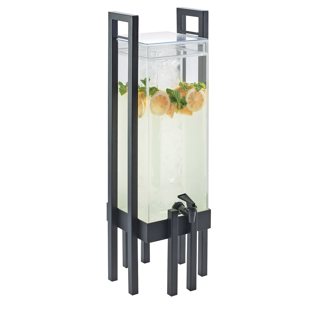 Cal-Mil 3302-3-13 3 gal One by One Beverage Infusion Dispenser - Lid, Spigot, Acrylic, Black