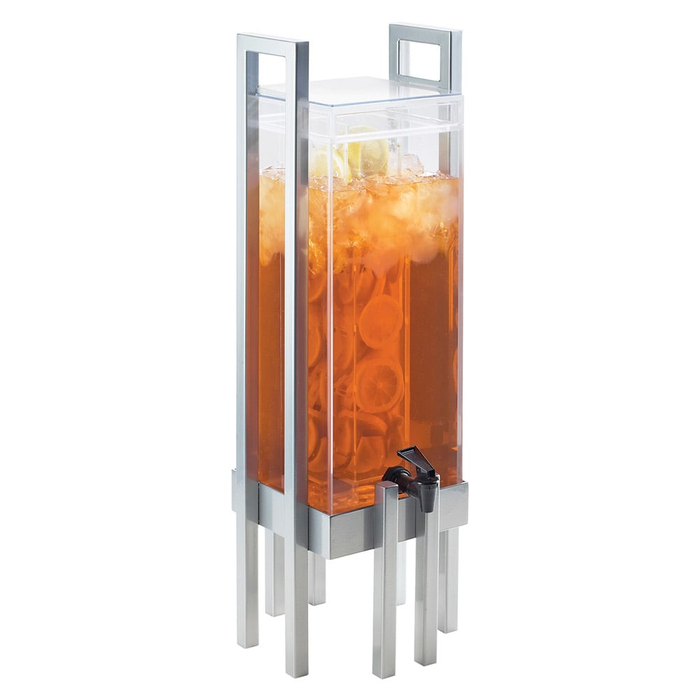 Cal-Mil 3302-3INF-74 3 gal One by One Beverage Infusion Dispenser - Lid, Spigot, Acrylic, Silver