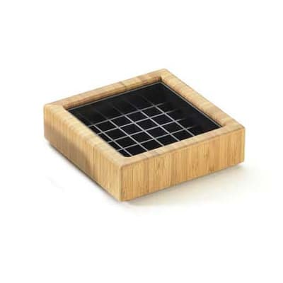 """Cal-Mil 330-4-60 4"""" Square Spigot Drip Tray w/ Removable Inner Tray, Bamboo"""