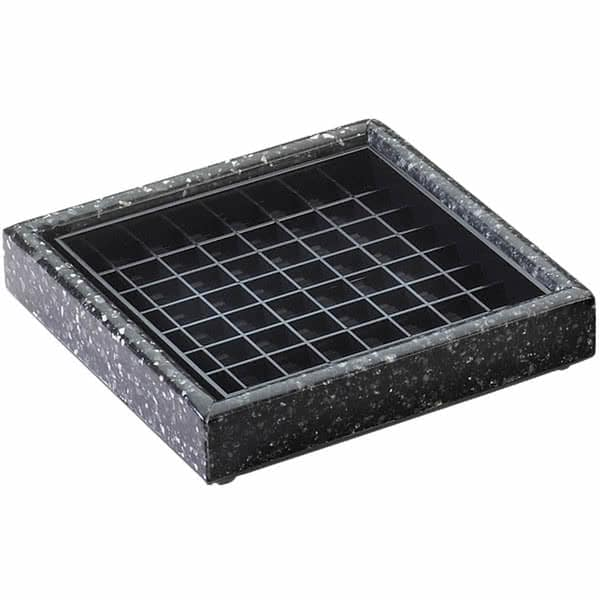 "Cal-Mil 330-6-31 6"" Square Stone Drip Tray - Plastic, Black Ice"