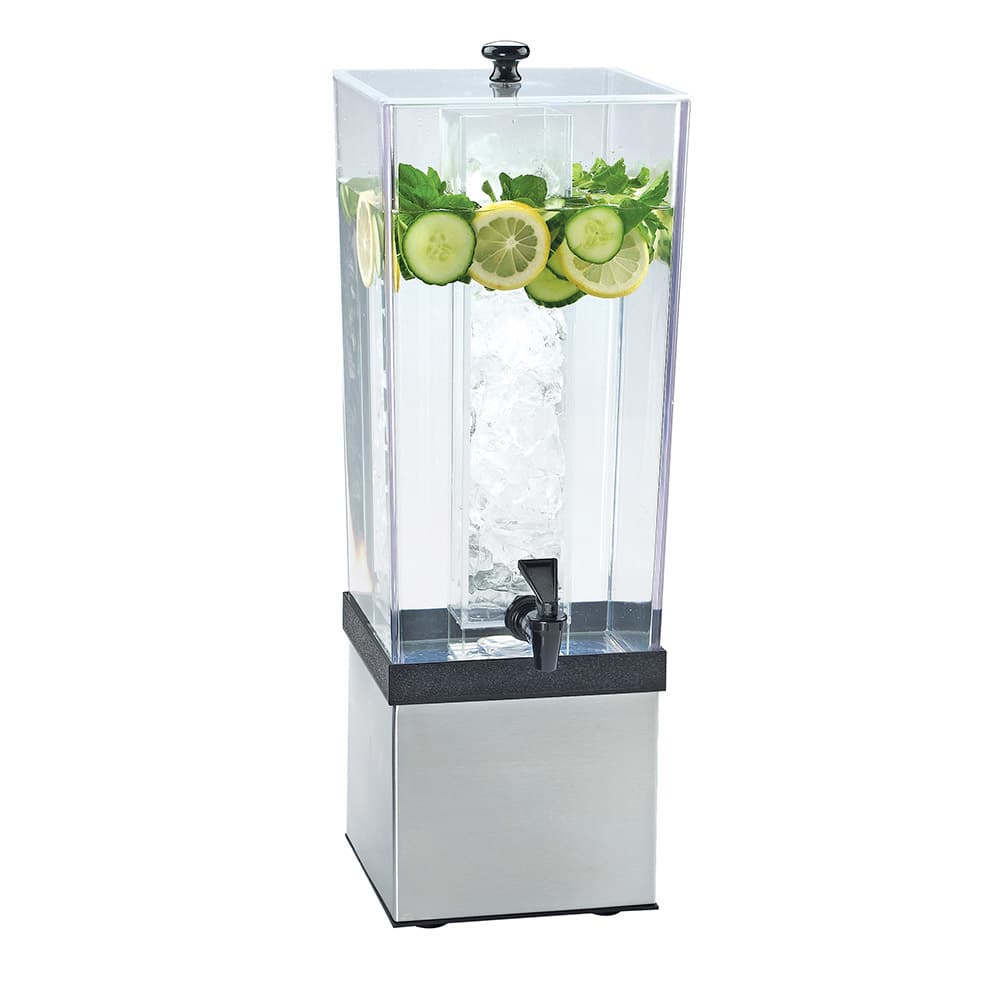Cal-Mil 3324-3-55 3 gal Econo Beverage Dispenser - Lid, Spigot, Stainless Steel