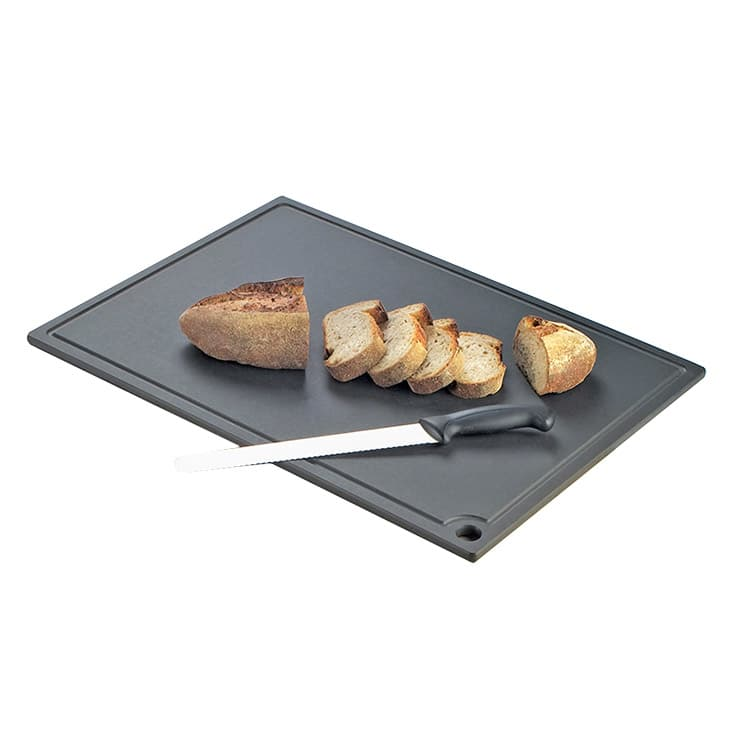 "Cal-Mil 3337-1824-13 Cutting Board - Hanging Hole, 18x24"", Black"