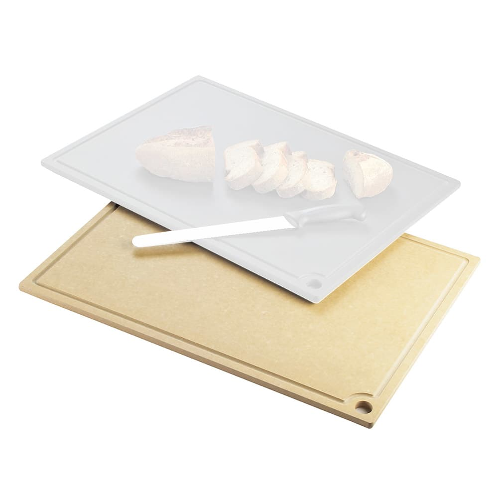 """Cal-Mil 3337-1824-14 Cutting Board - Hanging Hole, 18x24"""", Natural Wood"""