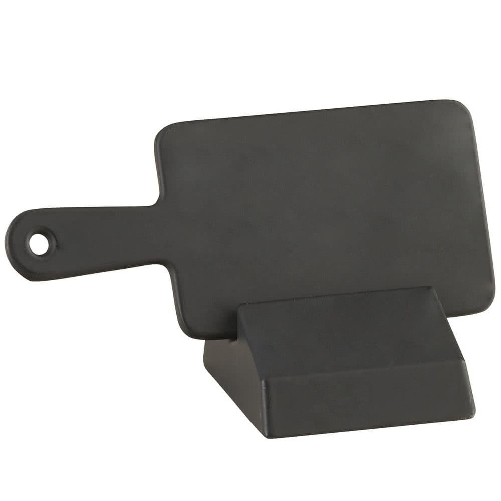 "Cal-Mil 3345-13 Tabletop Write-On Sign w/ Base - 4.5"" x 2"", Melamine, Black"