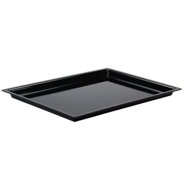 "Cal-Mil 335-10-13 Rectangular Display Tray - 14"" x 10"", Acrylic, Black"