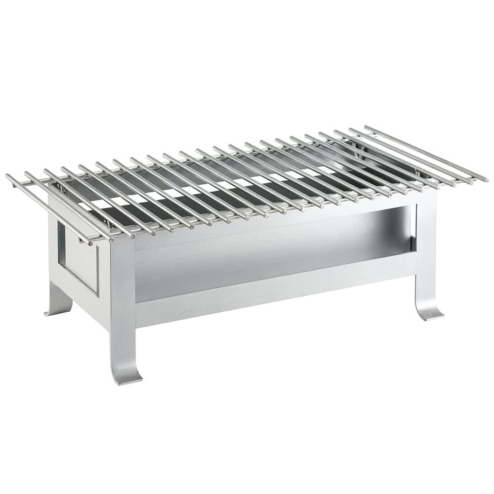 "Cal-Mil 3365-22-74 Chafer Grill w/ Fuel Holder - 22"" x 12"", Metal, Silver"