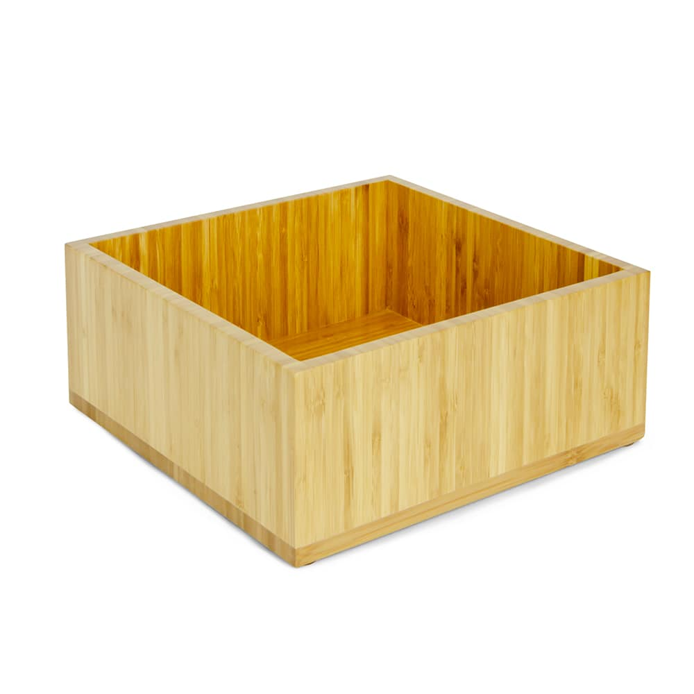 """Cal-Mil 3367-60 Cold Concept Cooling Base - 12""""W x 12""""D x 4.5""""H, Bamboo"""