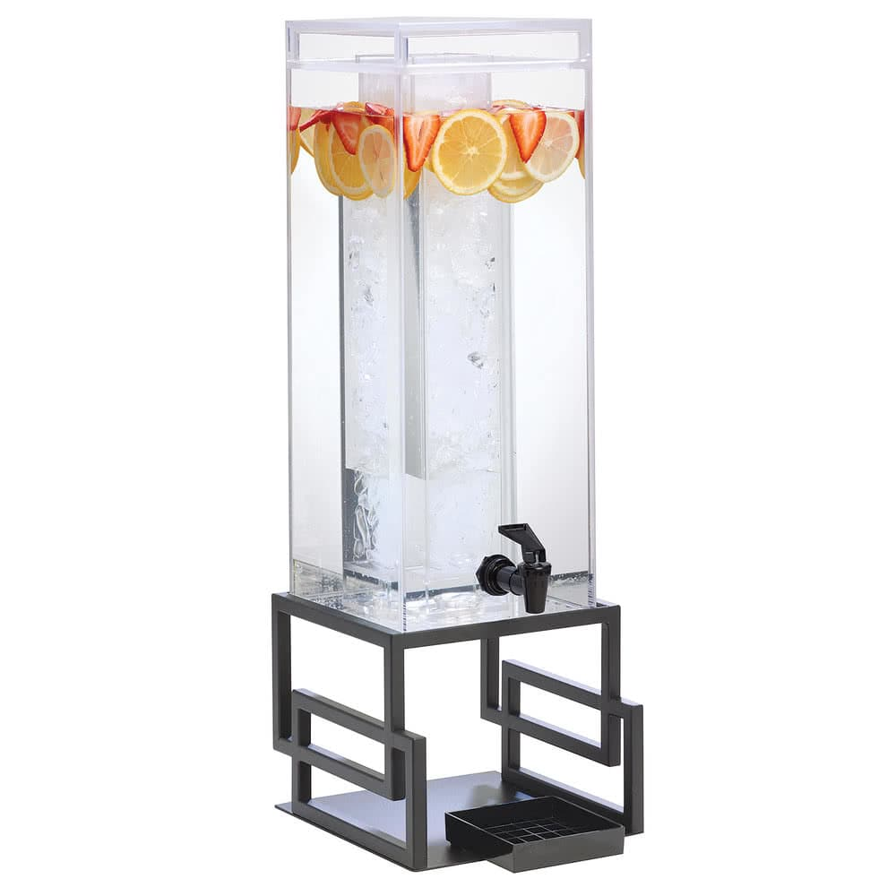 Cal-Mil 3370-3INF-13 3-gal Beverage Dispenser w/ Infusion Chamber - Plastic w/ Black Metal Base