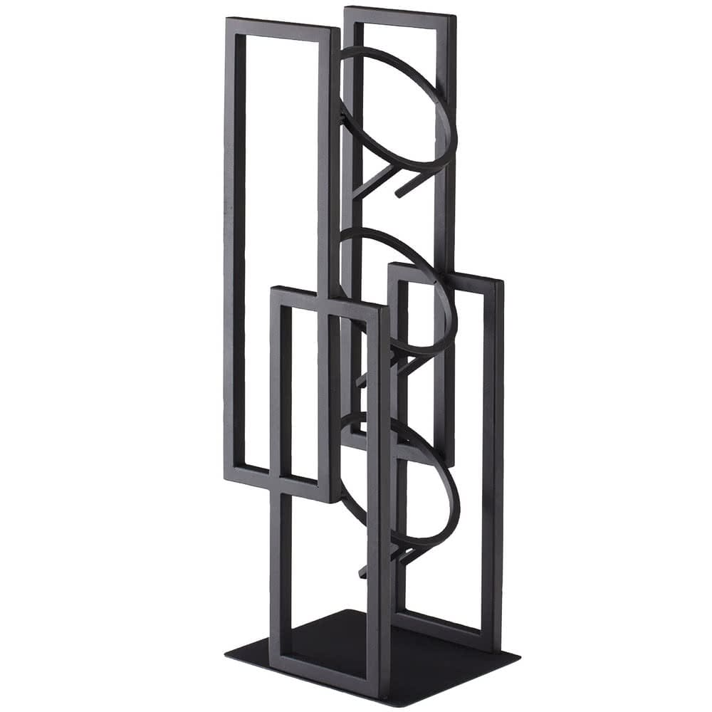 "Cal-Mil 3375-13 19.5"" 3-Section Cylinder Display - Metal, Black"
