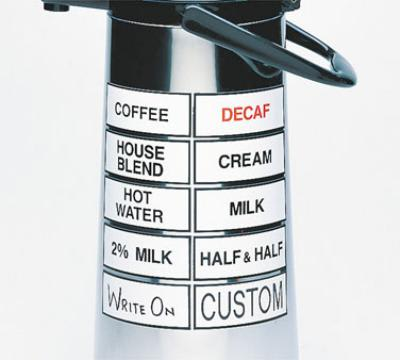 Cal-Mil 338-DECAF Magnetic Airpot Sign, Decaf